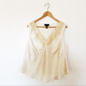 Lane Bryant Lace Cream Blouse Camisole Sz18